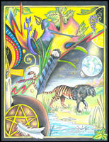 Tarot:  Ace of Pentacles by Black-Feather