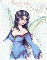 Snow the Fairie of Winter by Black-Feather