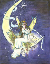 Moon Fairy by Black-Feather