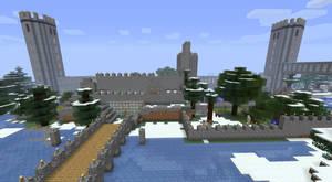 My minecraft castle in progress