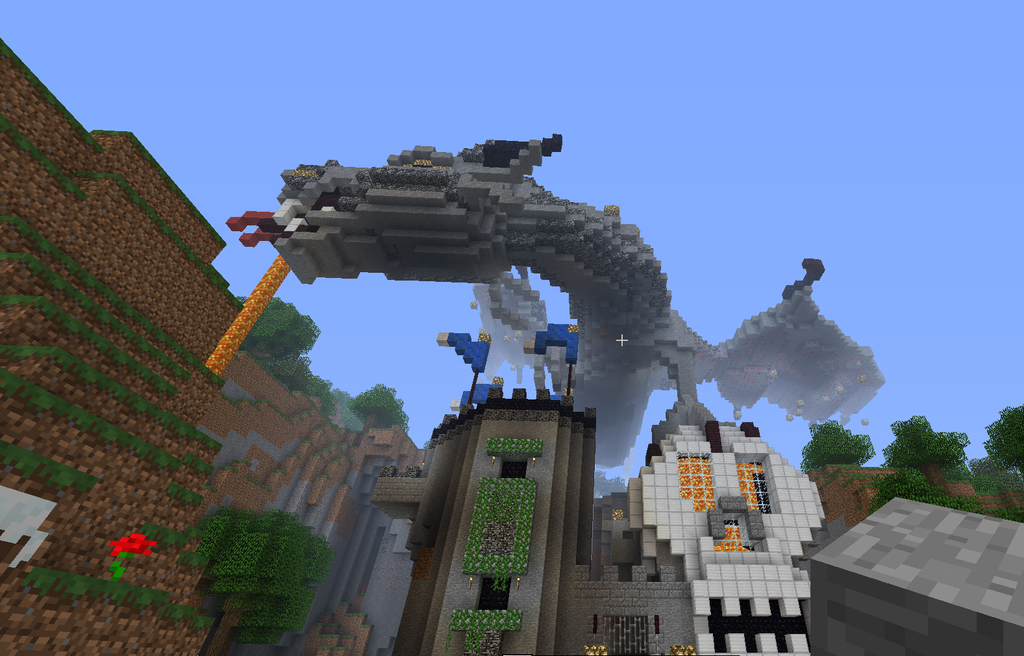 how to build a skyrim dragon in minecraft