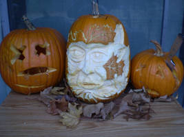 Family Pumkins of 2012 by Black-Feather