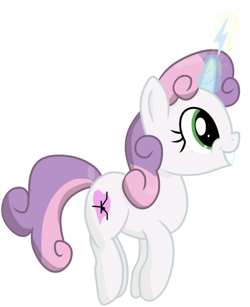 Sweetie Belle's charged up by transparentpony