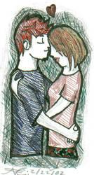 Gel Pen Couple by hallowfox