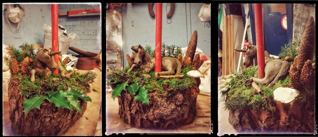 Christmas candle decoration - Unicorn by DianaJones