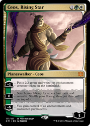 Ceos - Planeswalker Card by Cryptos13