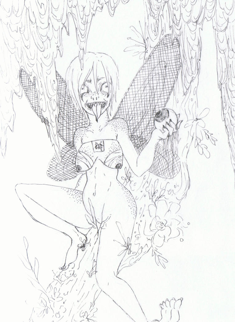 fairy in the trees by zigor11089