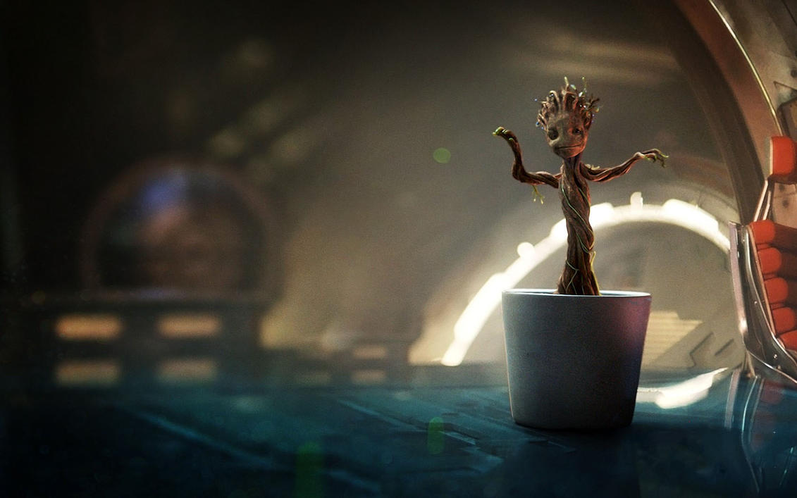 Little Dancing Groot - [Wallpaper - 1680x1050] by JLondon-64