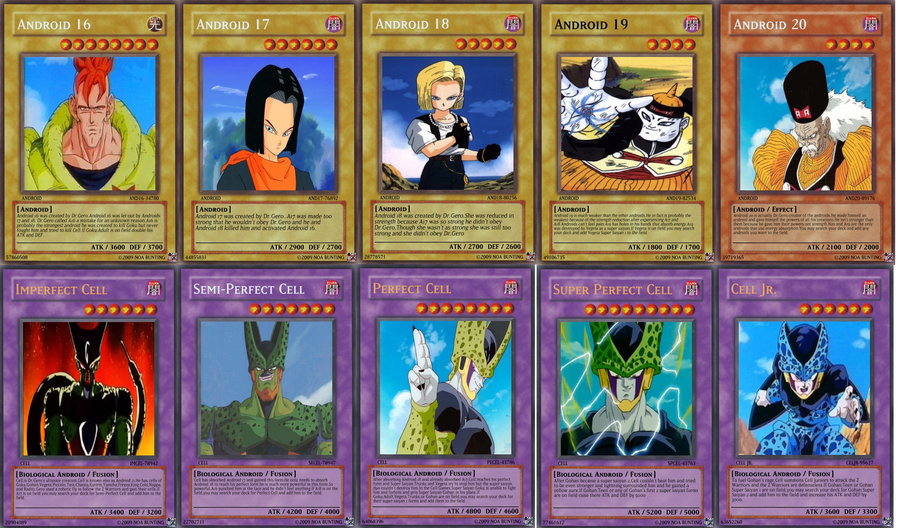 DBZ Android Yu-Gi-Oh Cards By Ketchup11011 On DeviantArt
