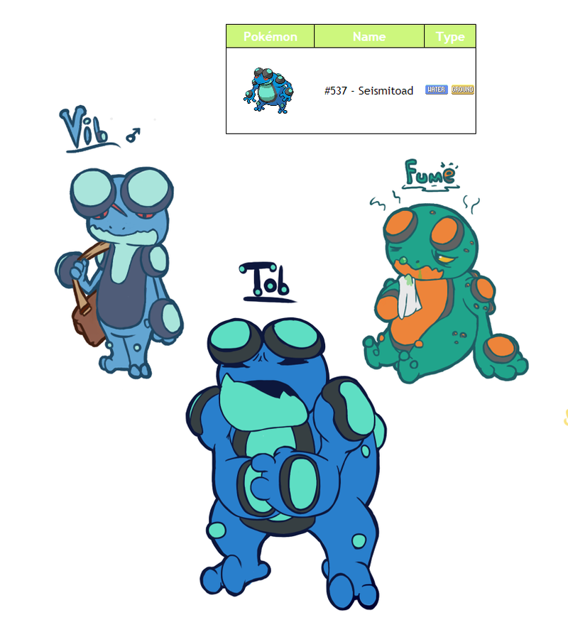 Pokemon Character Challenge Seismitoad By Lurils On Deviantart
