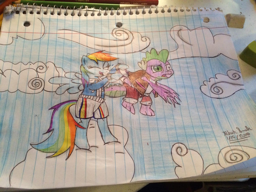 Request ~ Spike receives an atomic wedgie by pjslegoman on ... Rainbow Dash Wedgie