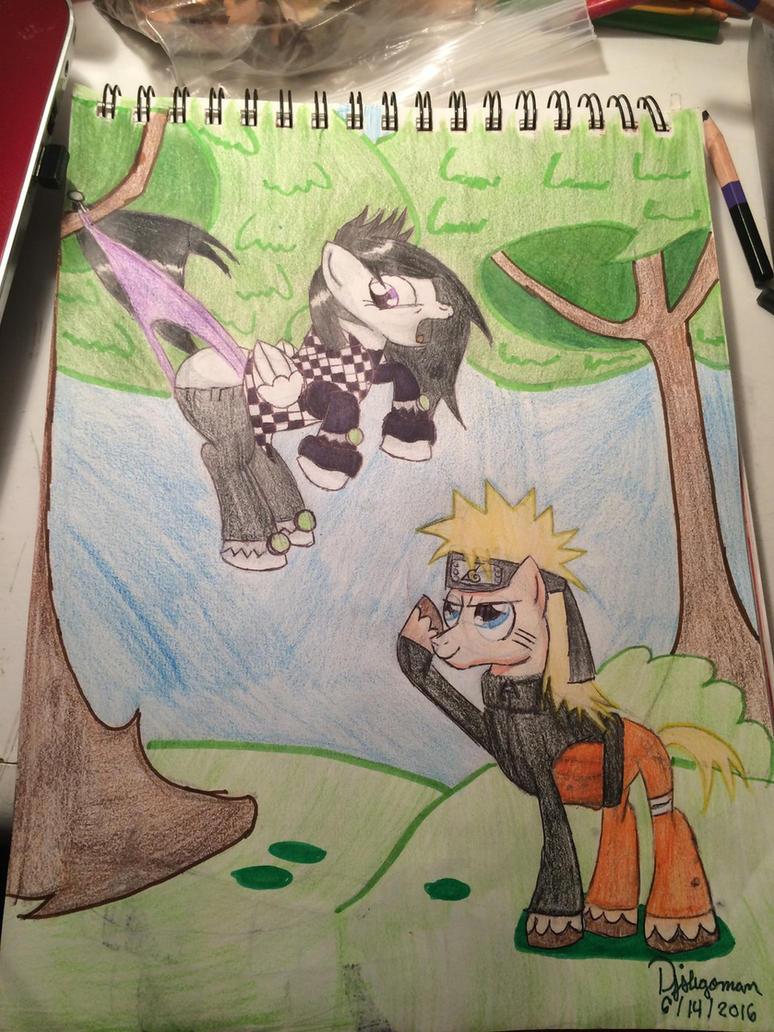 Request ~ Naruto wedgies Ellie  by pjslegoman