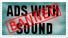 Ads With Sound Stamp by JFG107-Stamps