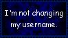 No Username Change Stamp