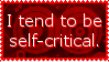 Self-Critical Stamp by JFG107-Stamps