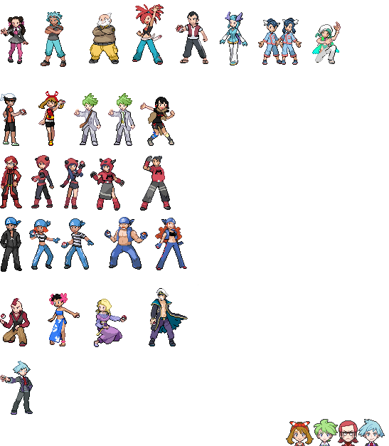 pokemon oras battle sprites 03 colors updated by