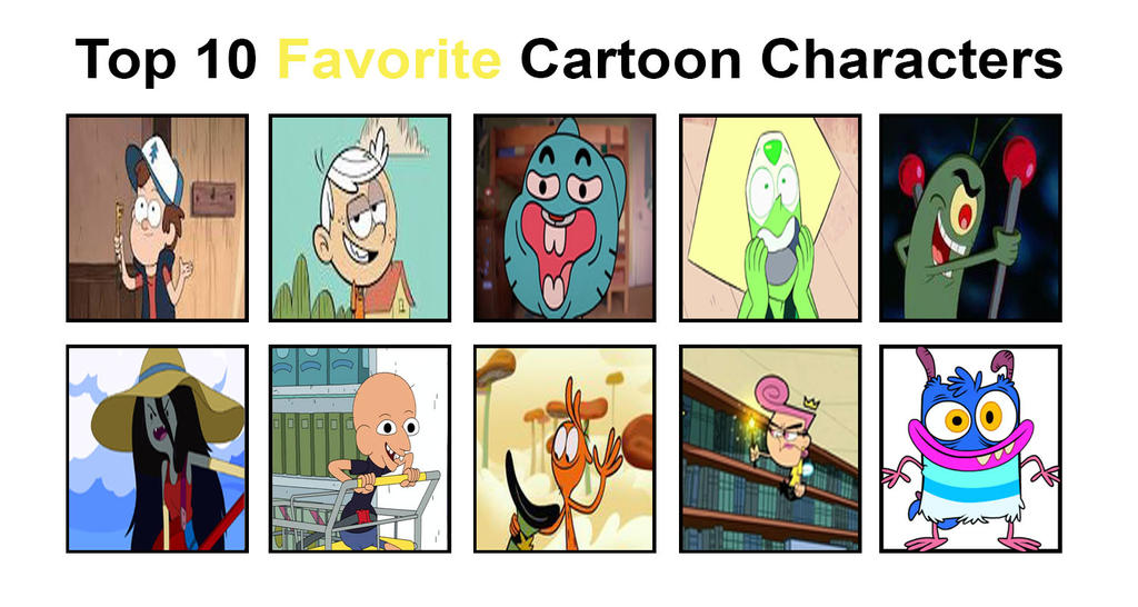 Top 4 Cartoon Characters : Top favorite cartoon characters by shevanda on deviantart