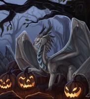 Halloween dragon by Deanosaior