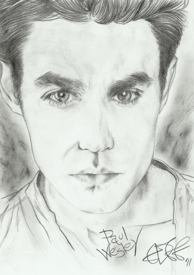 Paul Wesley - portrait by Cromoedge