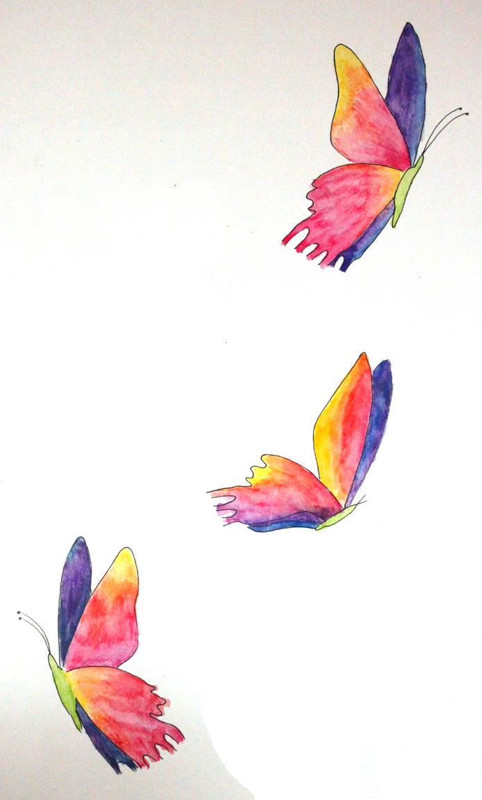 Rainbow Butterflies By Isabe11a On Deviantart