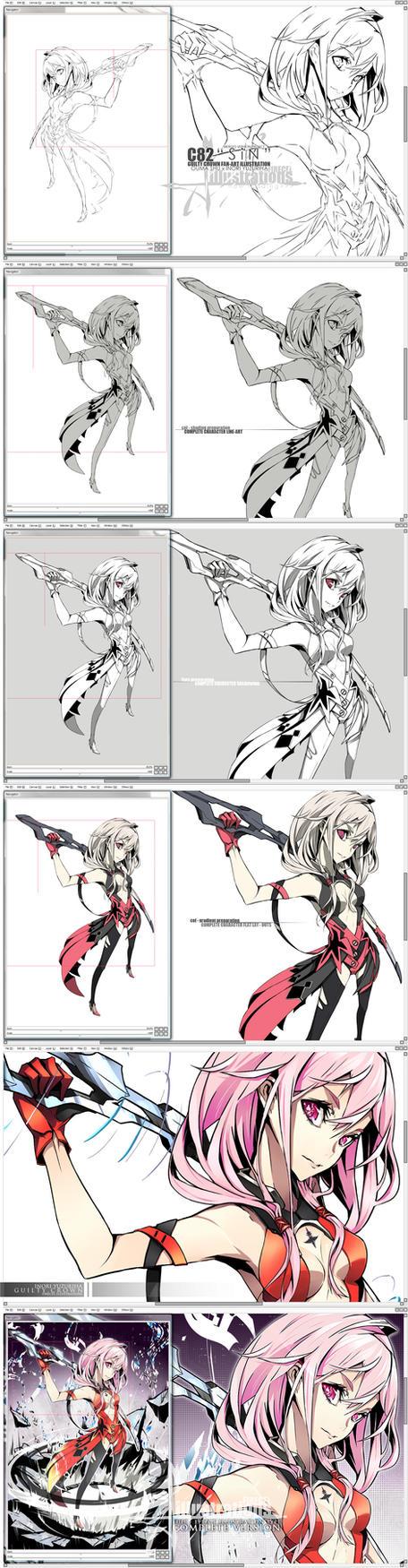 DS - Inori x Shu - C82 Illustration by Firecel
