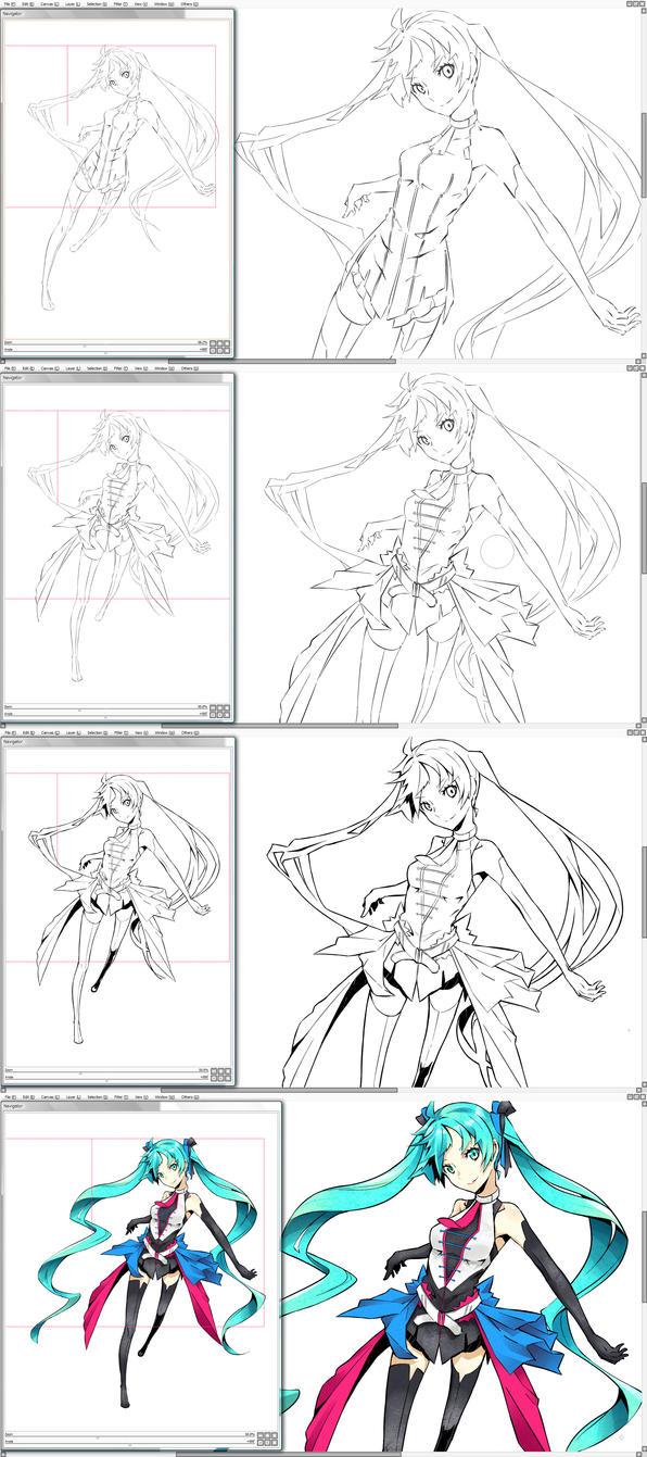 DS - Hatsune Miku // VOCALOID by Firecel