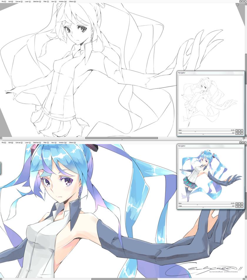 01 // Hatsune Miku : re[start] by Firecel