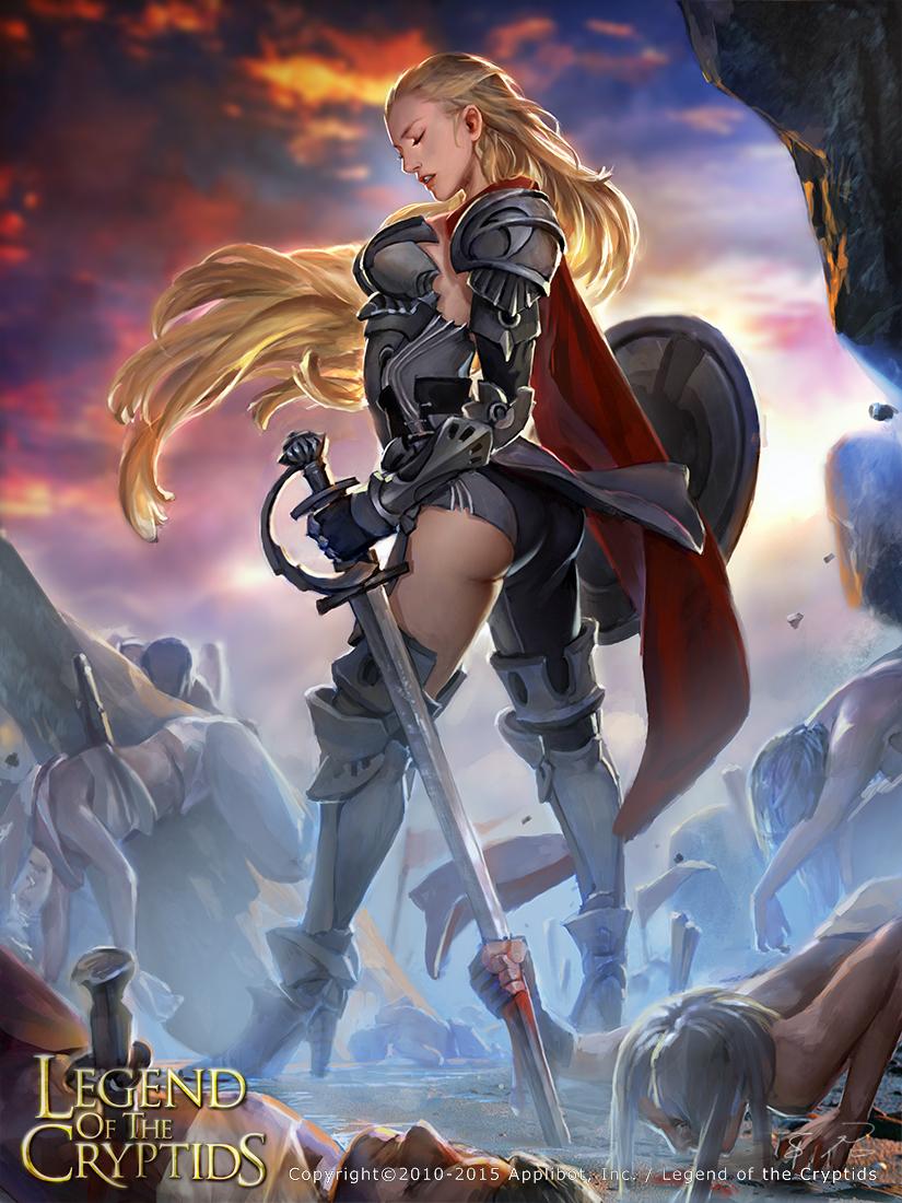 female knight_reg by zinnaDu