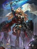 female knight_adv by zinnaDu