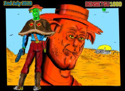 Aquatic Cowboy (Coloured) by Densetsu1000