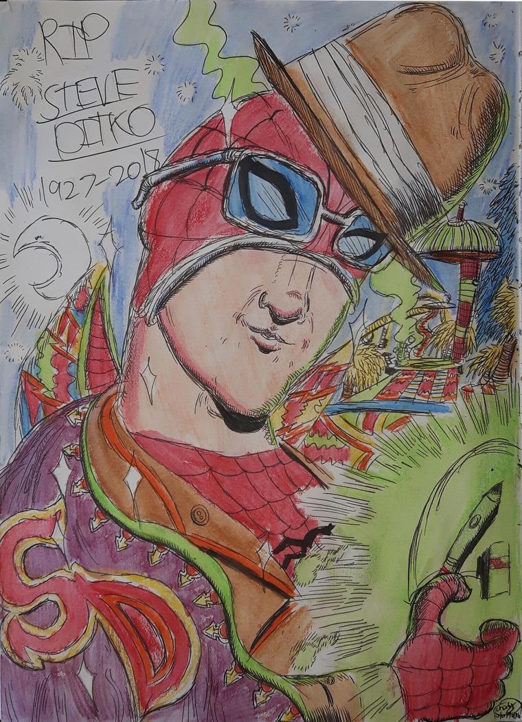 R.I.P Steve Ditko by Densetsu1000