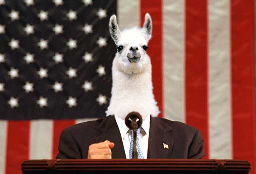 Llama for President by Exiled-Shadow