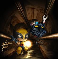 Wolverine - Nightcrawler by Corsariomarcio