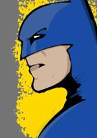 Blue Batman Doodle by DPWright