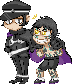 Raidou and Demi-Fiend by KelSevi