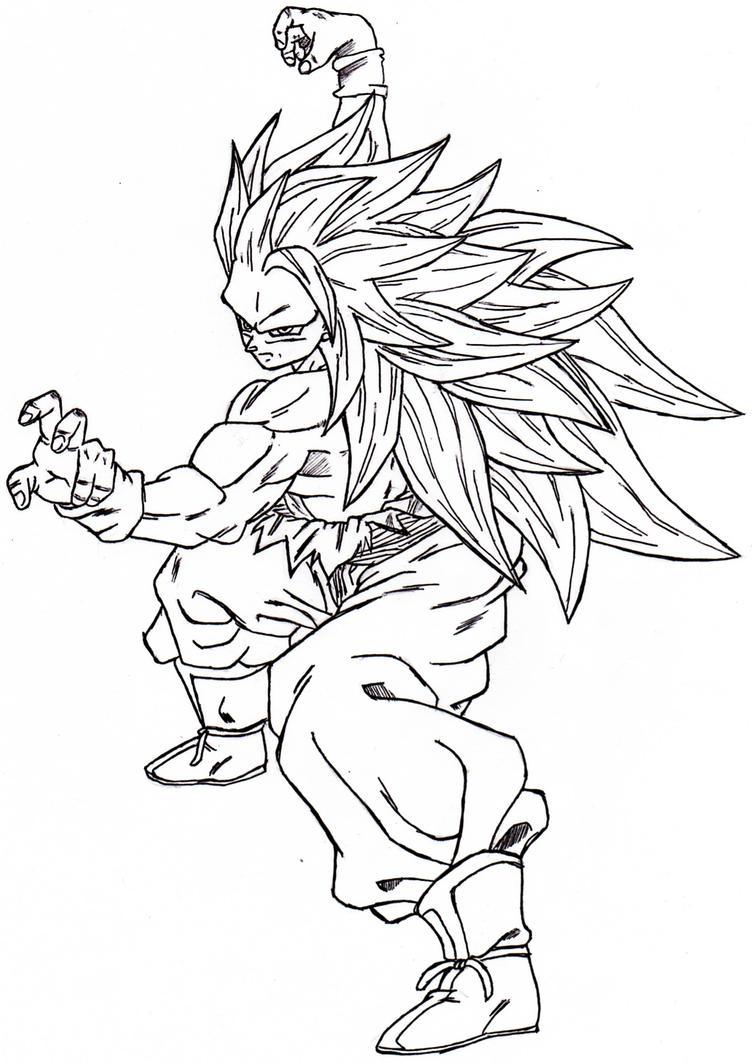 Goku SSJ3 Fighting Stance by VegetaKTA on DeviantArt
