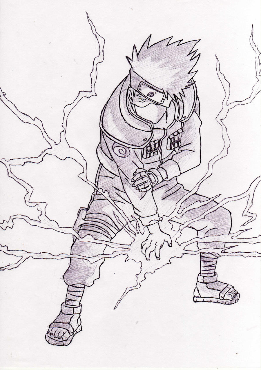 Kakashi raikiri (chidori) by VegetaKTA on DeviantArt