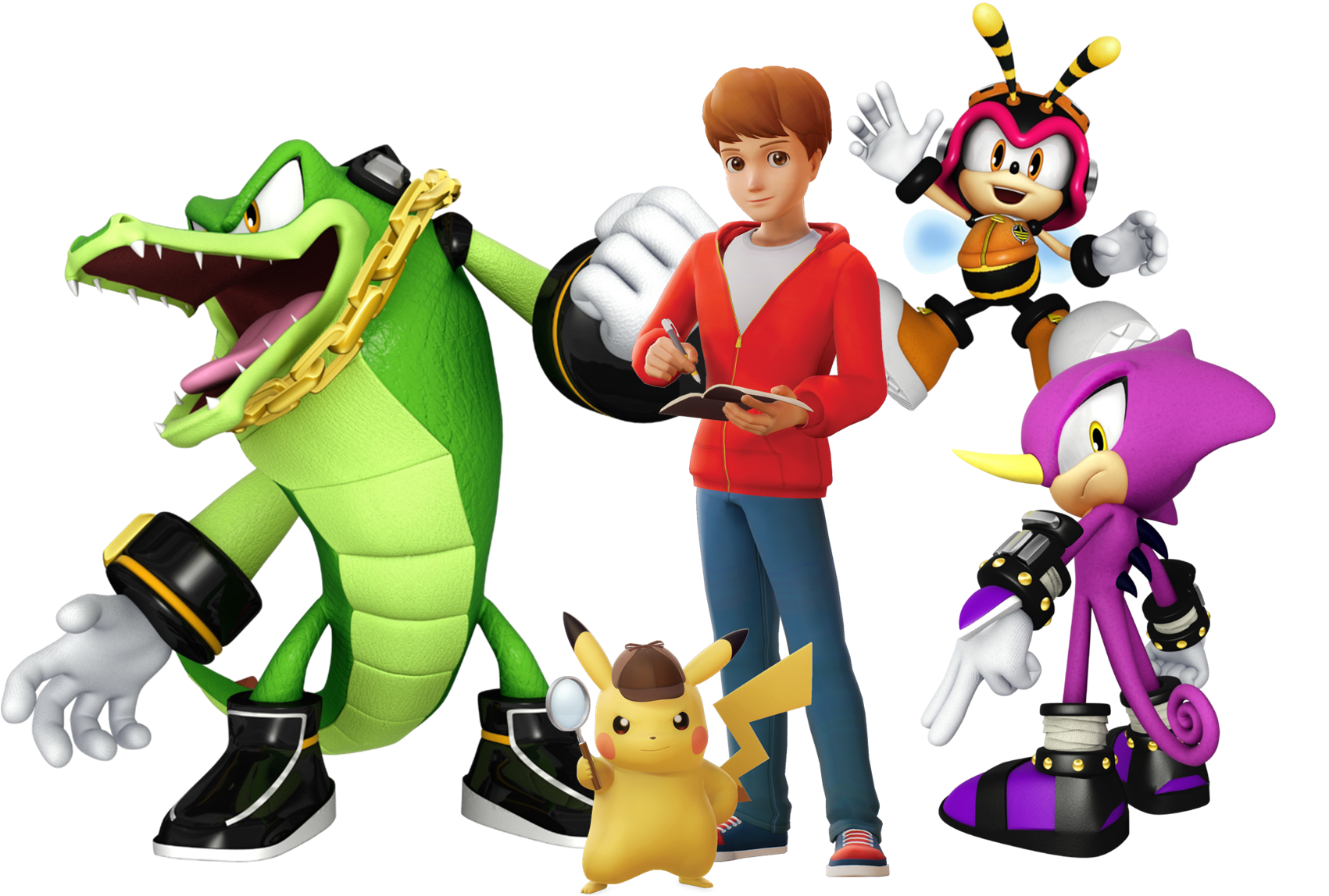 Detective Pikachu Tim Goodman And The Chaotix By Csillag Jozef On