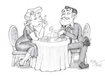 Dinner for Two by Mink-Farmer