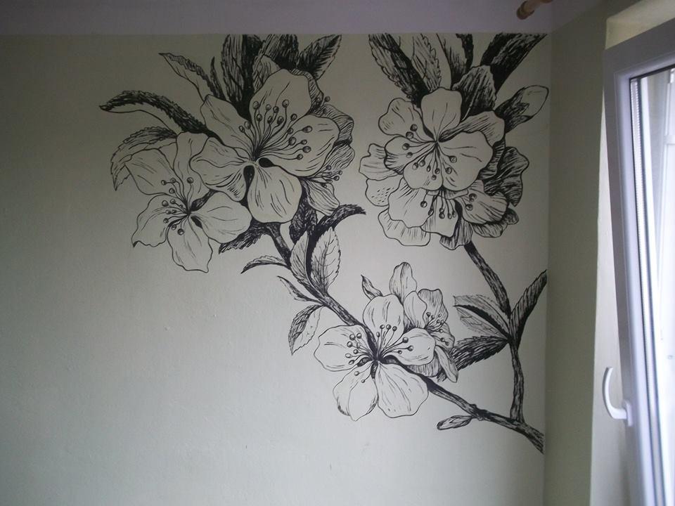 Wallpainting Flowers By Raionk On Deviantart