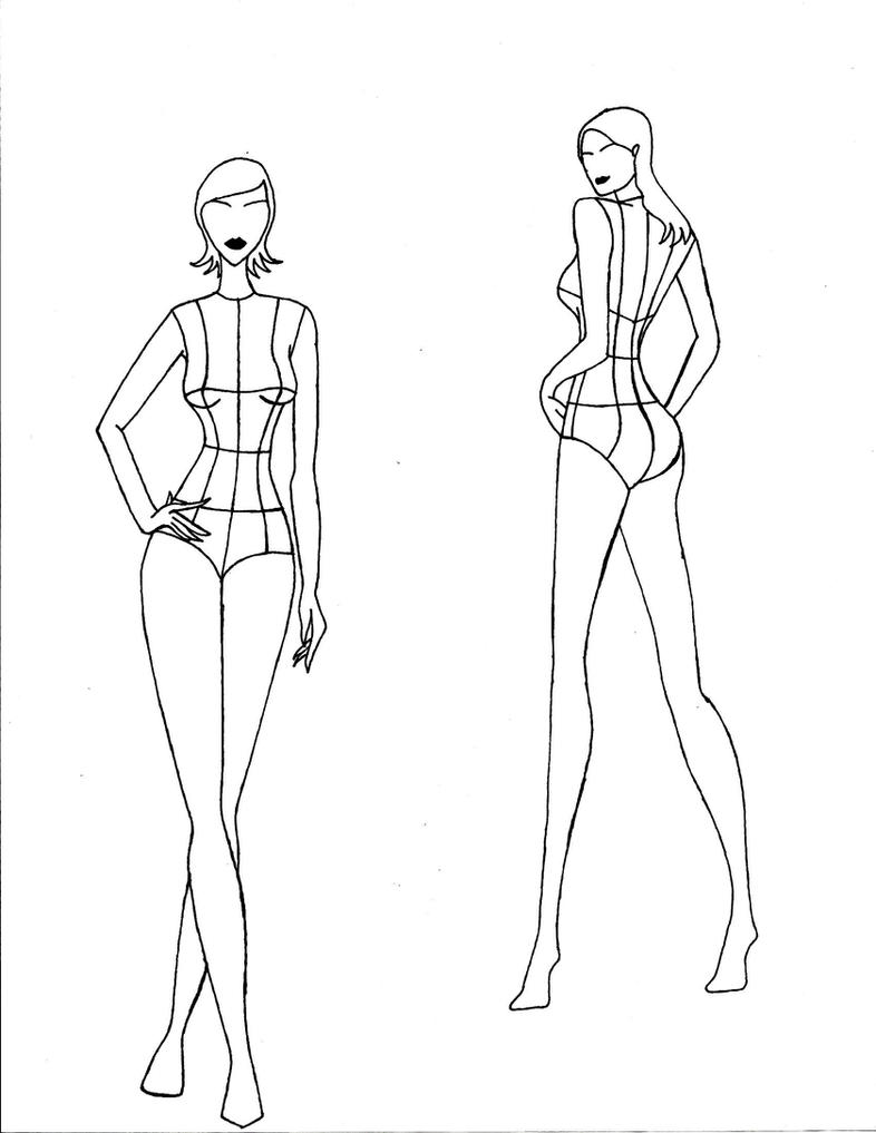 Figure Outline For Fashion Design