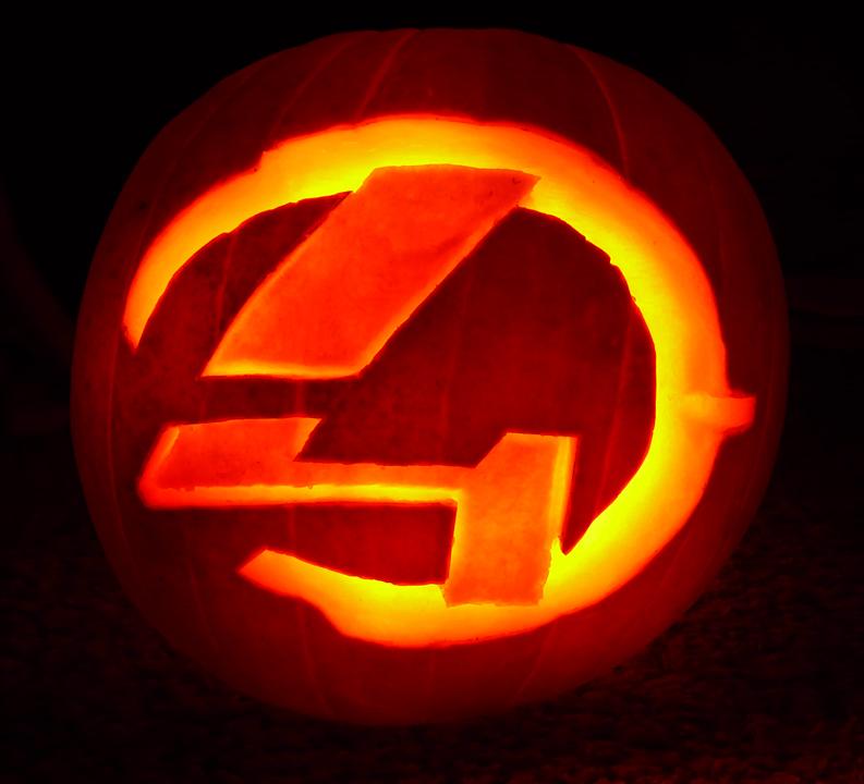Halo pumpkin stencils