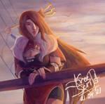 beidou on the ship (genshin impact)