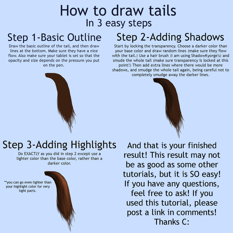 Tails By Atwee921 On How To Draw A Horse