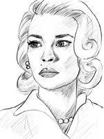 Betty Draper / Francis, Mad Men by stevenf