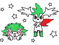 shaymin coloring page by red kun fan