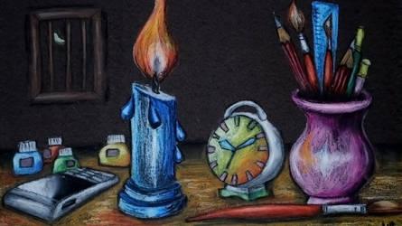 Artist's Table by smartsendy34