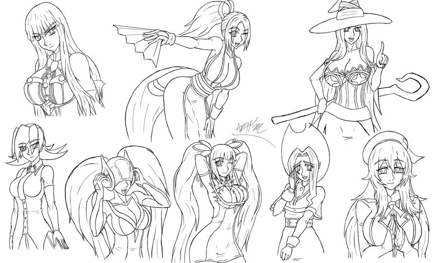 Drawing Compilation lining by Artman-eyt