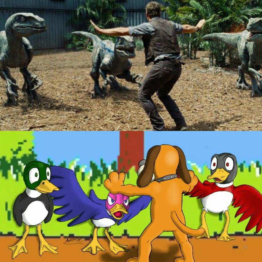 Duck Hunt X Jurassic World by Artman-eyt