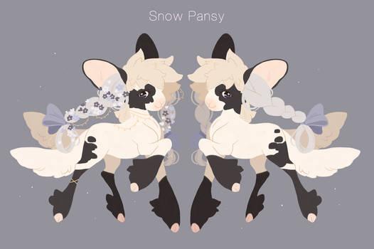 [YENOMI] Snow Pansy Flat Sale - CLOSED